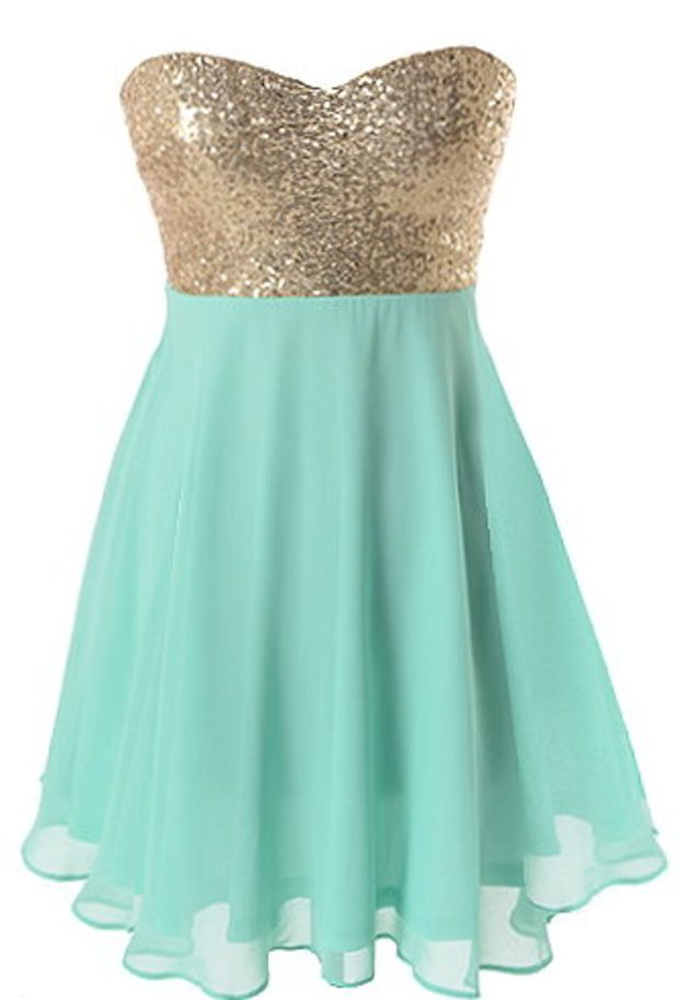 Spearmint sparkle dress mint green gold sequin party for Mint and gold wedding dress