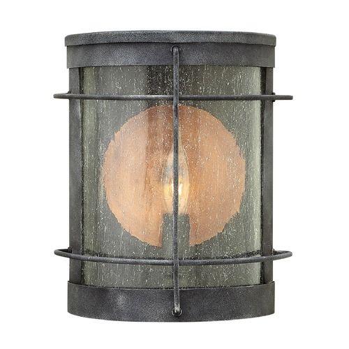 Exterior light by front door. JP. Hinkley Lighting Newport Aged Zinc Outdoor Wall Light | 2620DZ | Destination Lighting