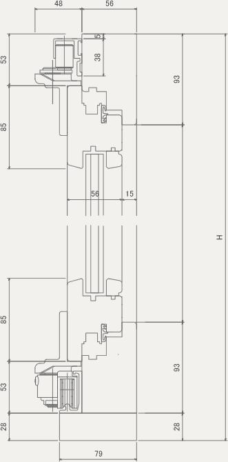 Or 断面図 木製サッシ サッシ 折戸