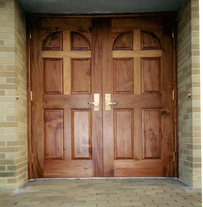 Choosing Wood and Finish for Church Doors & interior cedar doors | Click here for higher quality full size ... pezcame.com