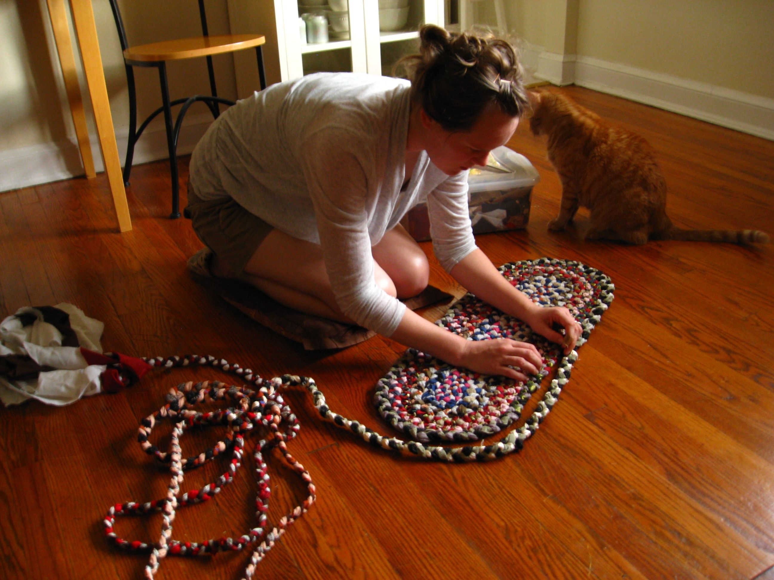 diy braided rug rectangle