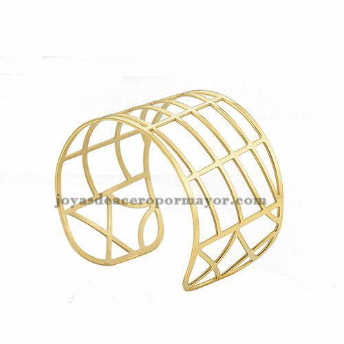 pulsera moda especial dorado en acero inoxdable para mujer -SSBTG213282