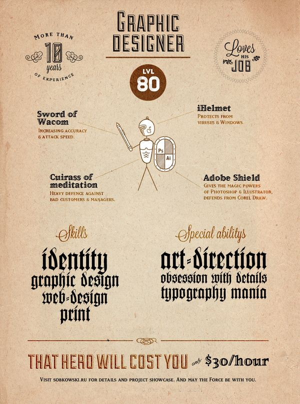 Designeru0027s profile by Max Sobkowski, via Behance Print design - visual designer resume