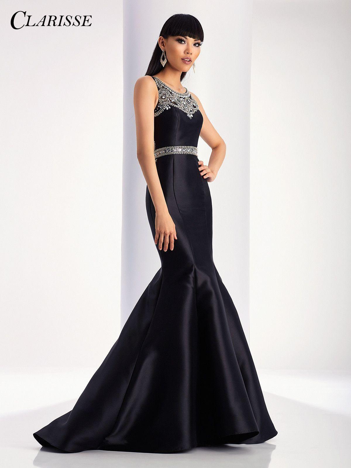 Clarisse prom black mermaid prom dress products pinterest