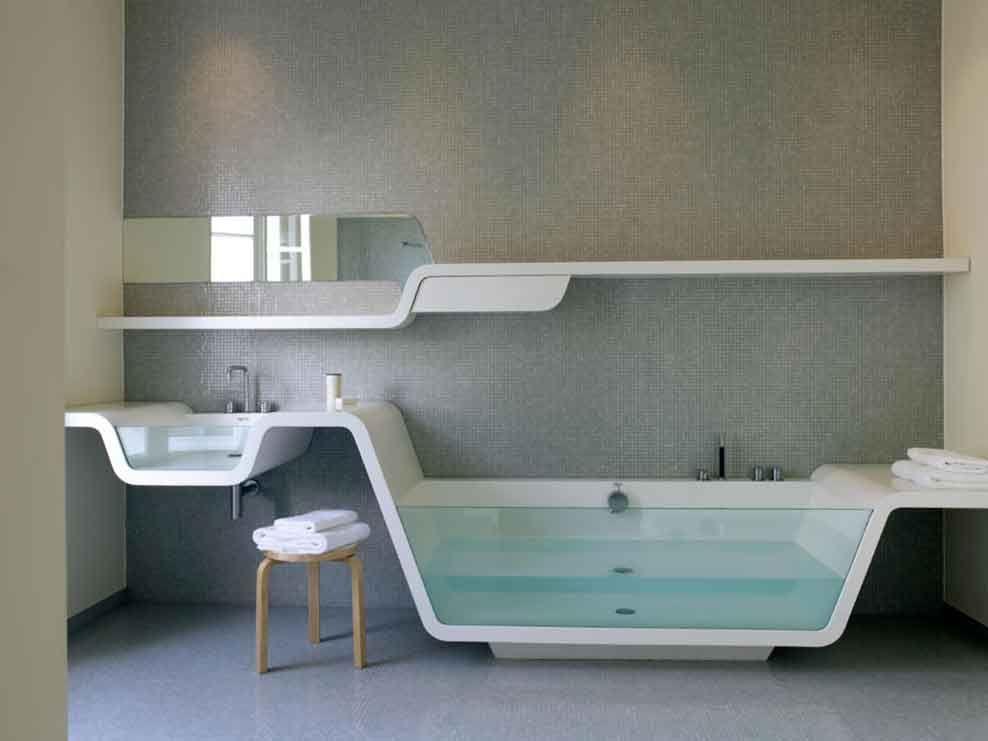 Gut Badezimmer Modernes Design Modernes Badezimmer Mit Organischer Desi Bbf