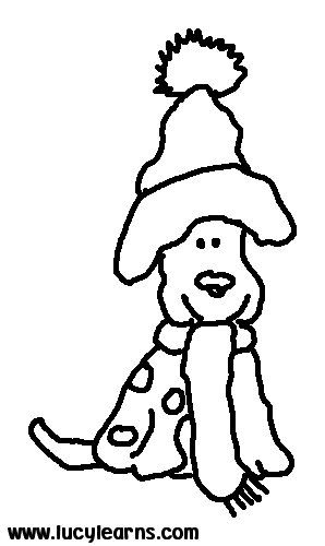 coloring dog page print christmas puppy coloring pages for kids