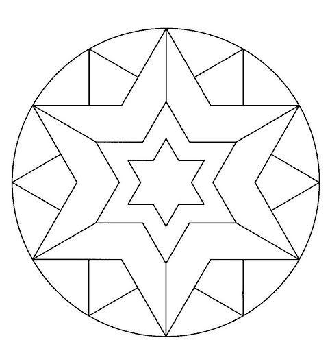 Estrella Mandalas Mandalas Mandalas Para Colorear Y Mandalas