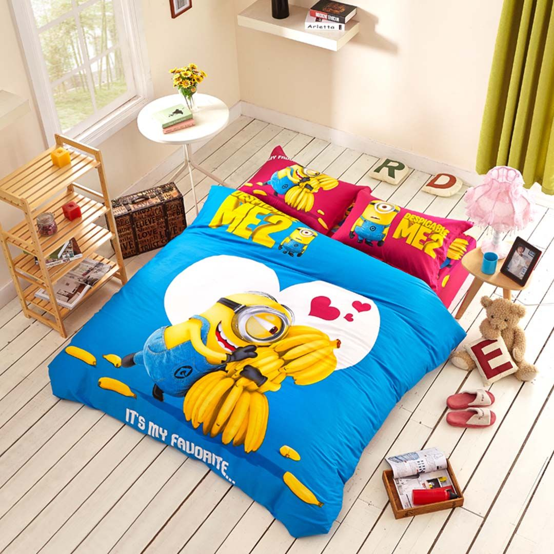 Minion Comforter Set Twin Queen King Size