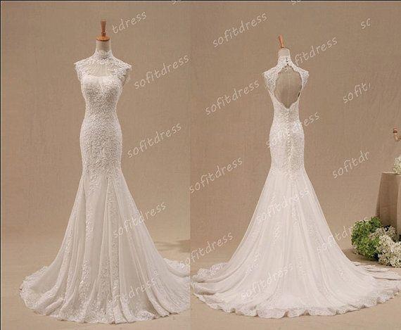 lace wedding dress mermaid wedding dresses by sofitdress on Etsy ...