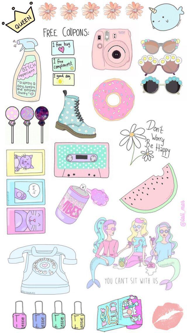 389d5951bb152db886d60deeb4aadc86 Jpg 640 1136 Cute Wallpapers Tumblr Stickers Cute Stickers