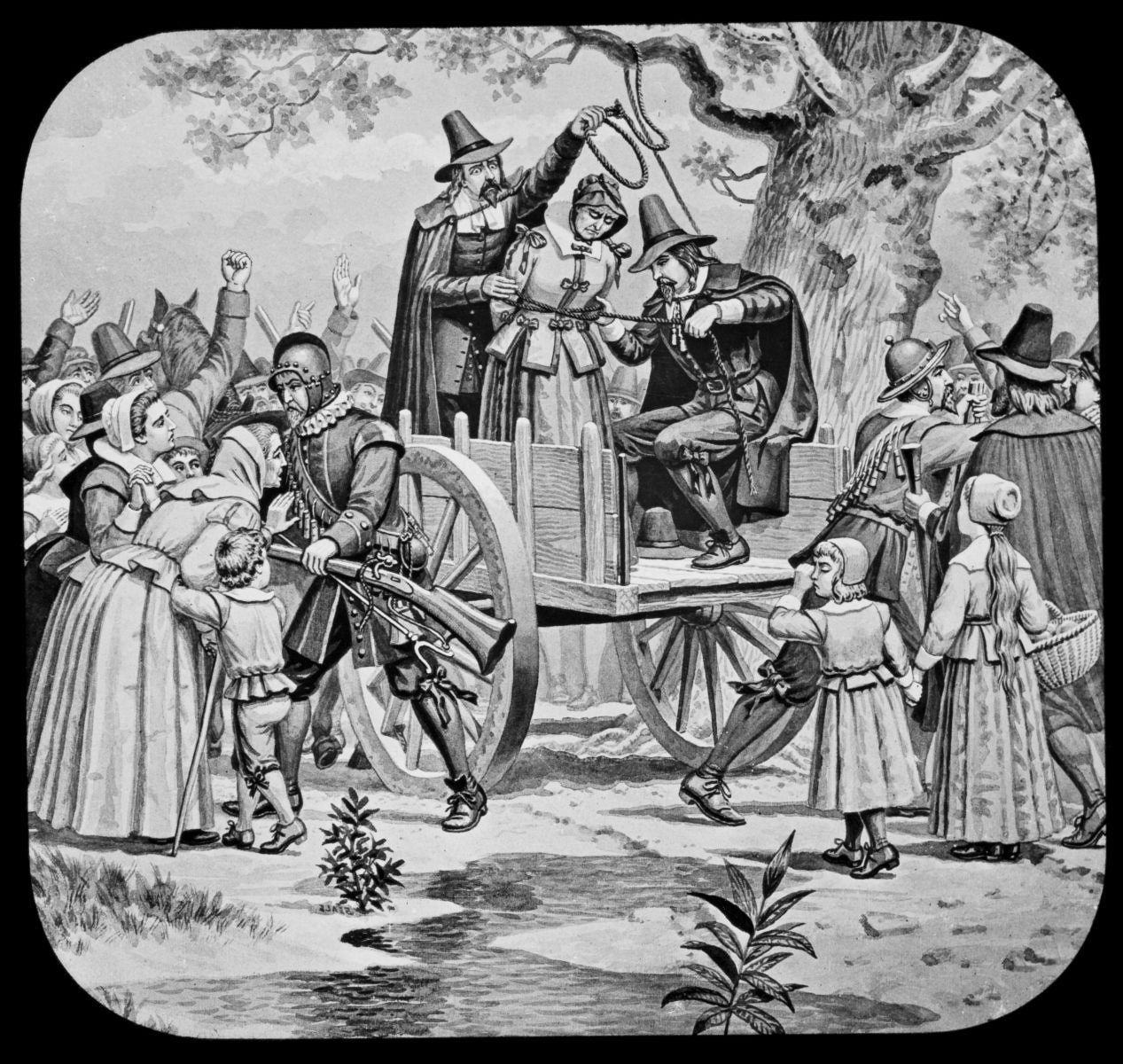 June 10th, 1692: First Salem witch hanging. In Salem Village in the  Massachusetts Bay Colony, Bridget Bishop, the first colonist to be tried in  the Salem ...