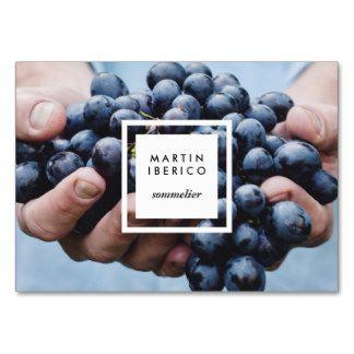 Raisins De Cuve Sommelier Ou Cartes Visite Carte Grand Format