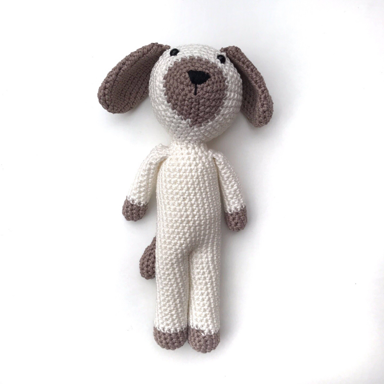 Crochet Baby Toy Cuddly Dog Toy Newborn Gift Unique Baby Gift