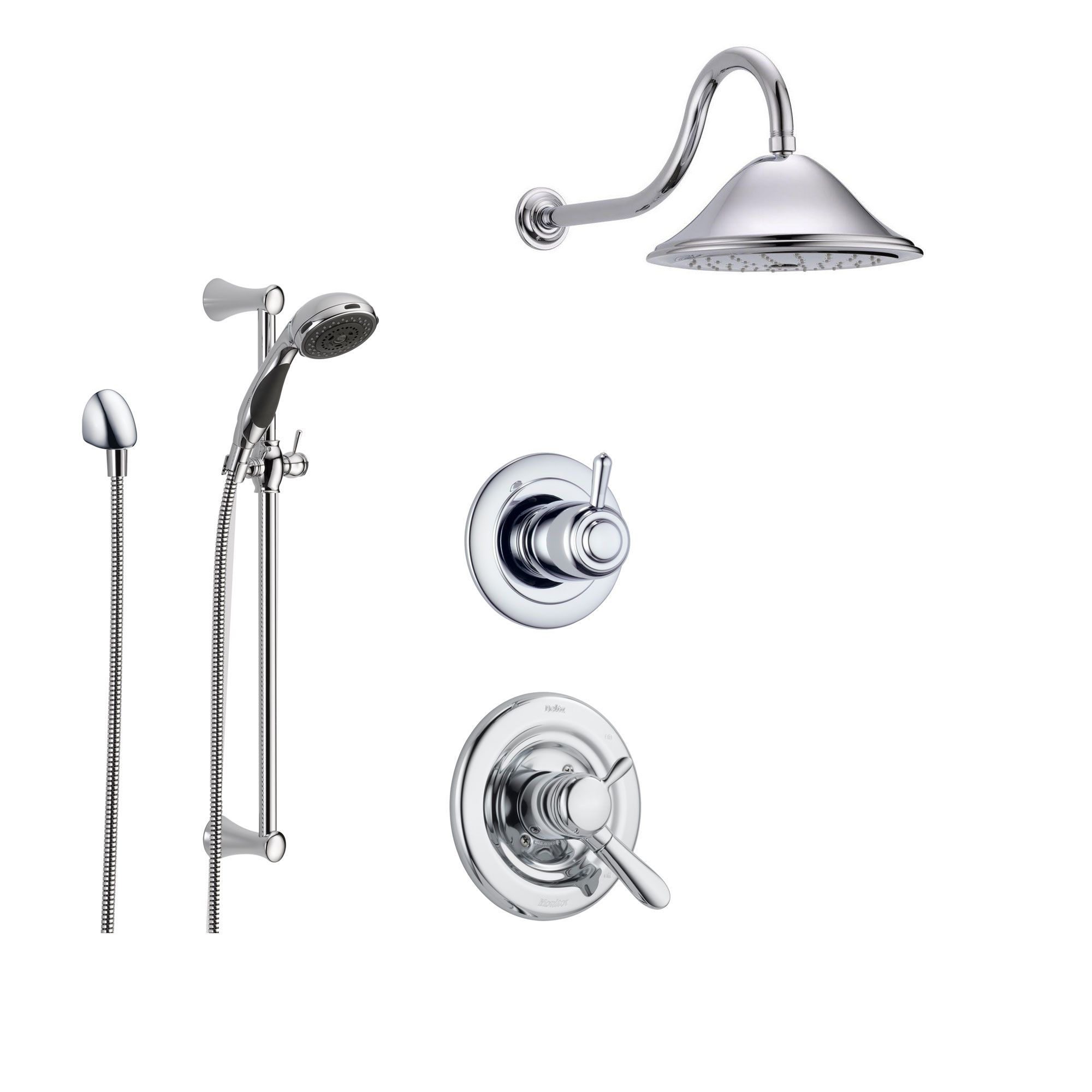 Delta Lahara Chrome Shower System With Dual Control Shower Handle
