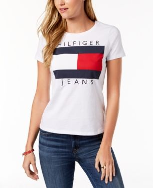 00cb09fb Tommy Hilfiger Cotton Embroidered Logo T-Shirt, Created for Macy's - White  XXL