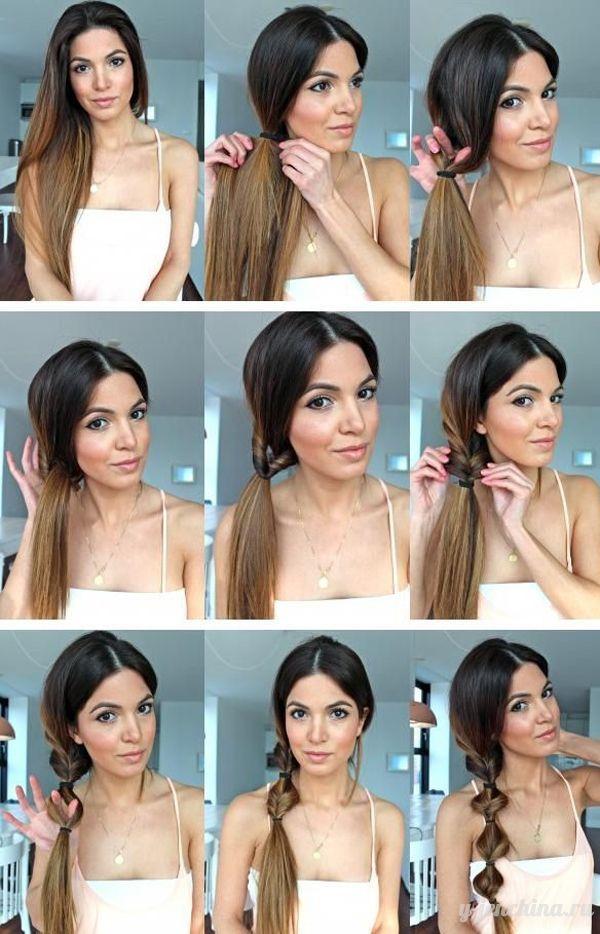 Причёски из длинных волос видео в домашних условиях