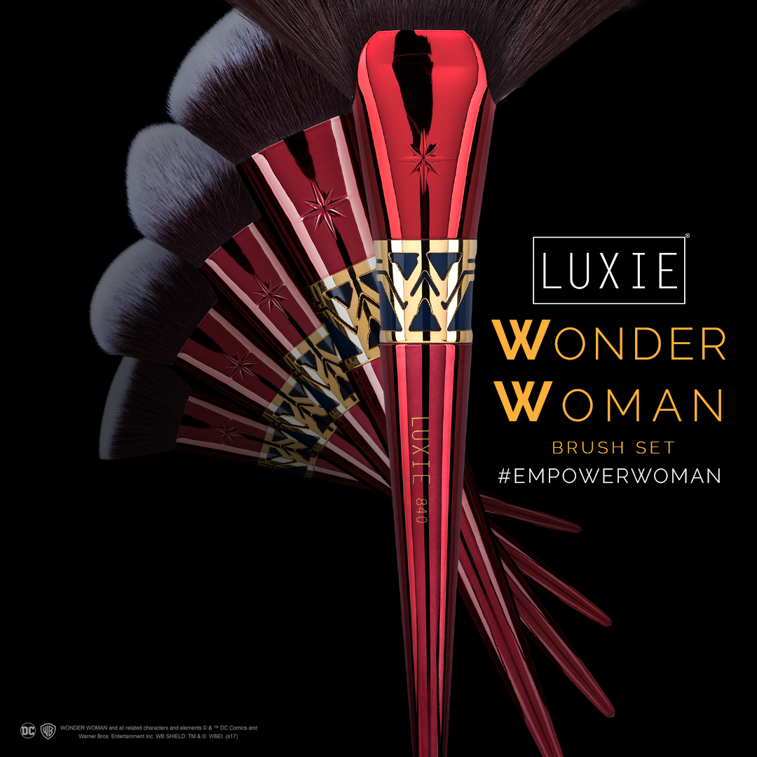 Check out our Wonder Woman Face Brush Set! Available for