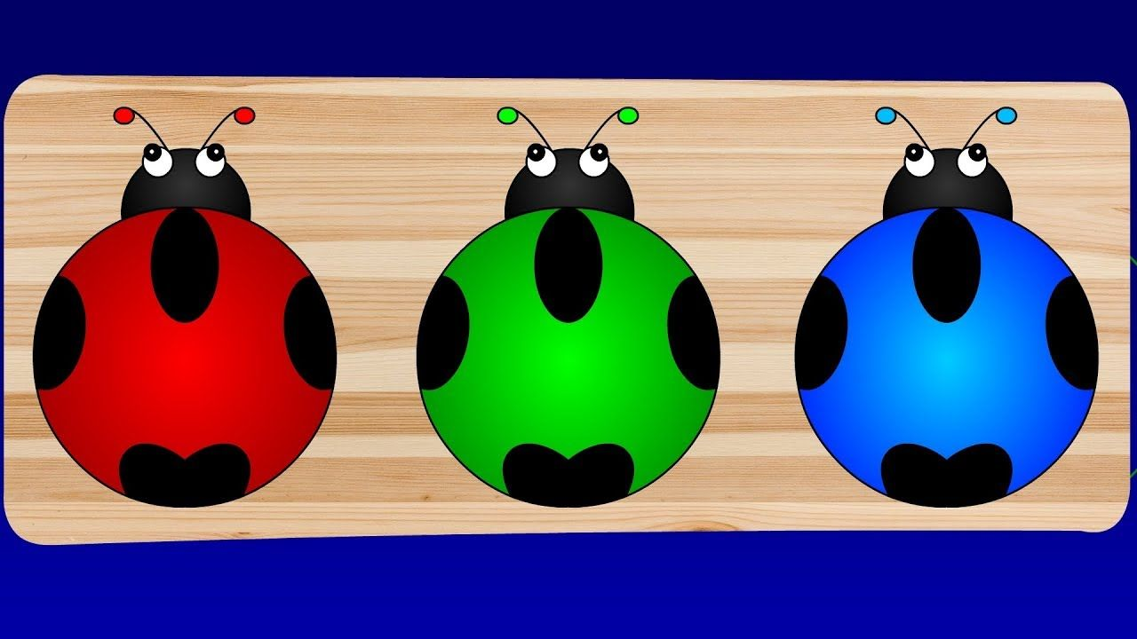 Learn Colors for Children with Wooden LadyBug Toys | Preschool ...