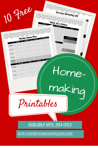 10 Free #Homemaking #Printables ONLY during April