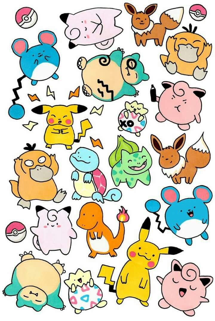 Pokemon (с изображениями) | Милые рисунки, Легкие рисунки ...