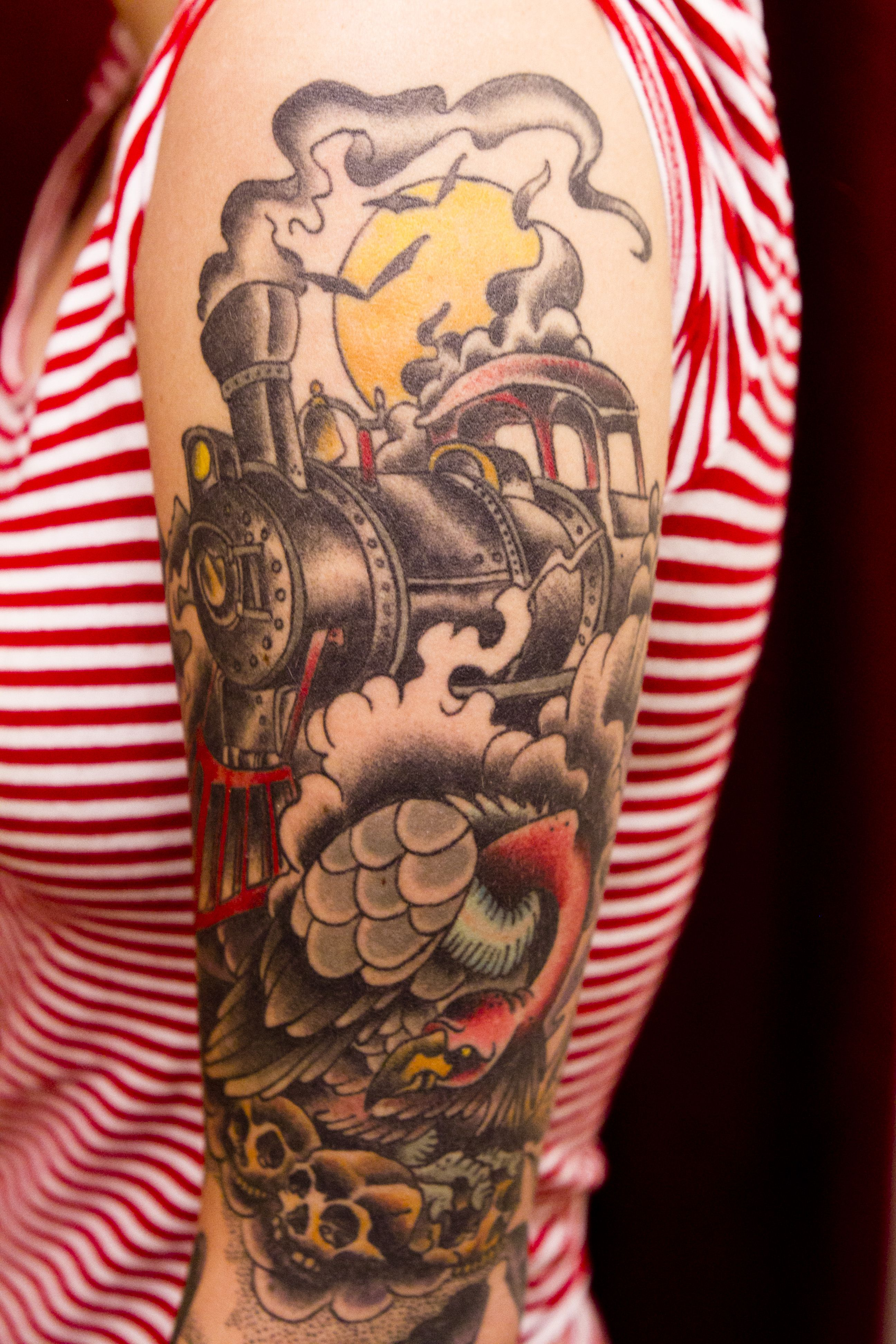 Train Tattoo~ One Of These Days For Myy Pops