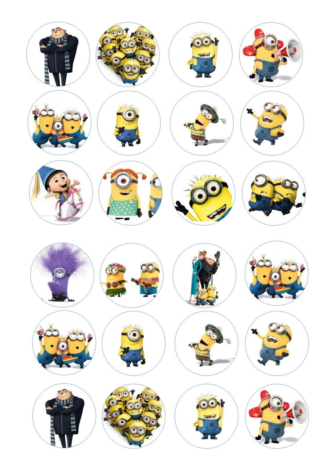 Details about 24 icing cupcake cake toppers decorations ...