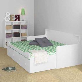 Kinderbett Inkl Ausziehbett Trixx Weiss Ausziehbar 80x200cm Kinderbett Ausziehbar Ausziehbett Bett