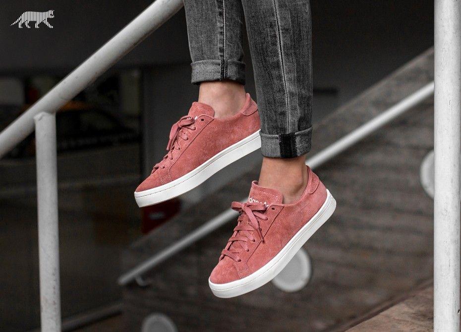 Adidas Adidas Court Vantage W Ash Pink Off White Ash Pink Adidas Court Vantage Sneakers Adidas