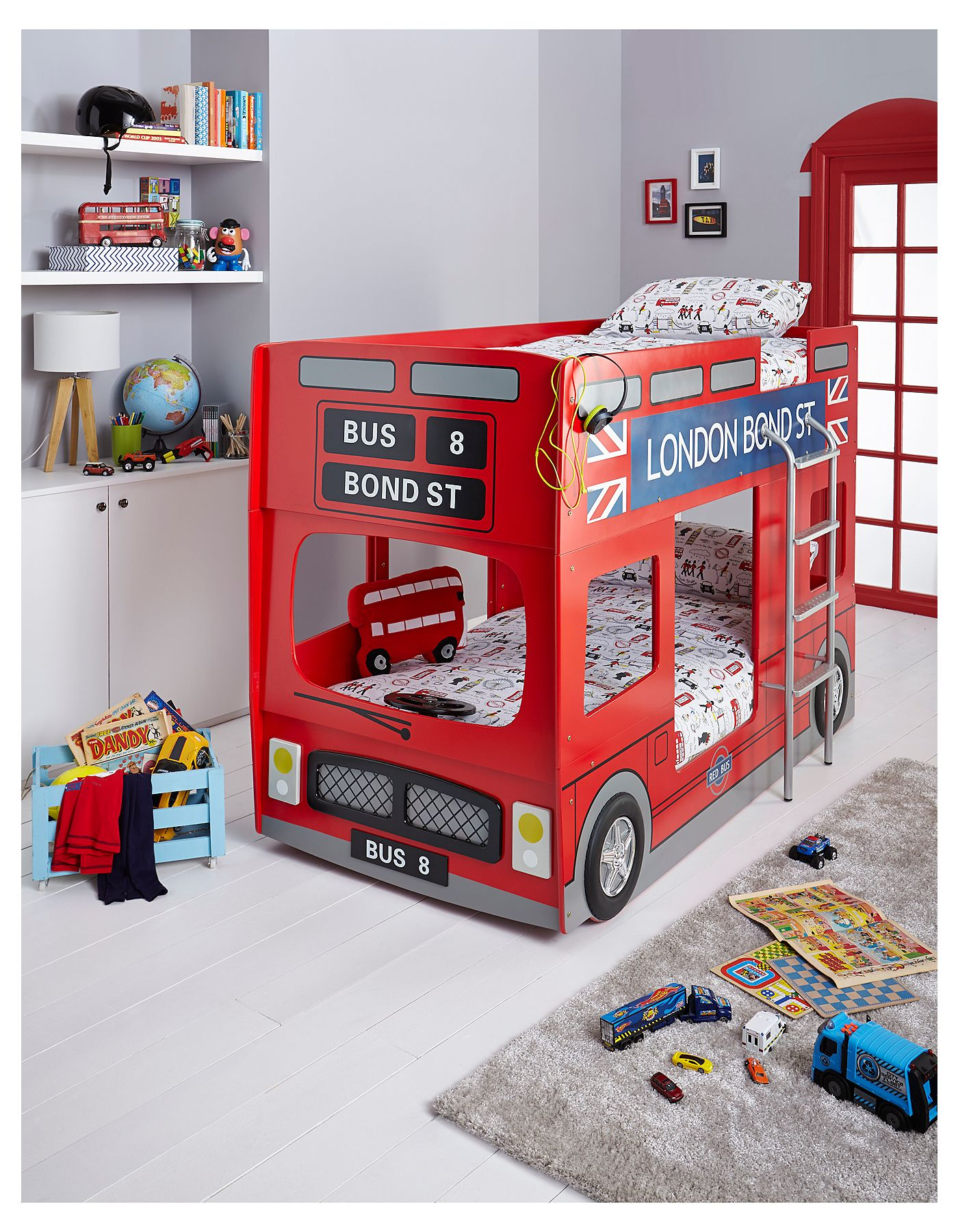 london bus bunk bed furniture asda direct 369 children s room