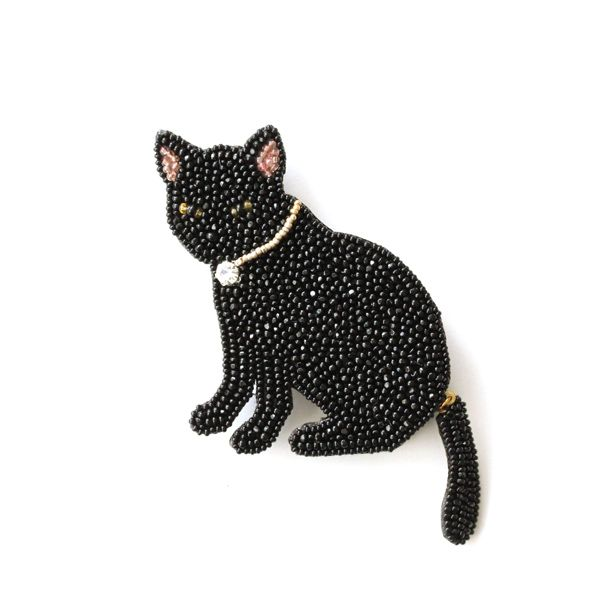 ~ Beaded Black Cat ~