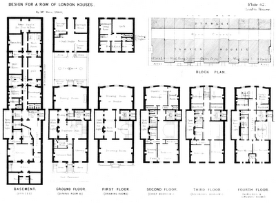 Town Houses In Belgravia Full Floor Plan Georgian