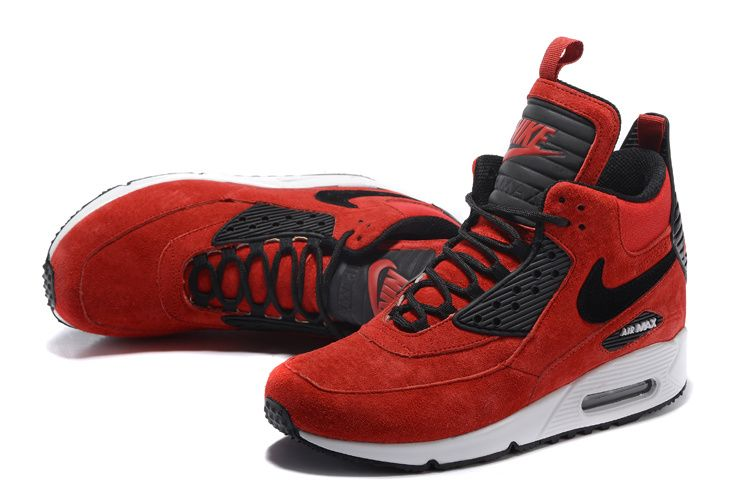 nike air max 90 sneakerboot red - Google Search
