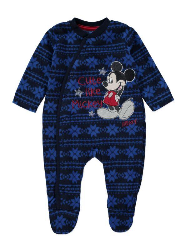 cc9ee525ba4f Christmas mickey mouse fleece sleepsuit asda 4 gbp (0-3 months ...