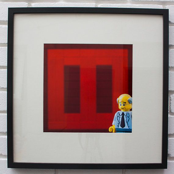 The Red Print - Square - (Mark Rothko, 'Seagram Murals') - LEGO® Art / Photography, by Little Big Art