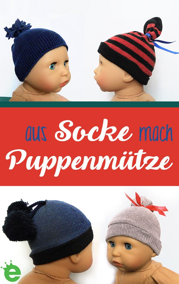 Socken-Upcycling-Ideen: Puppenmützen und Haargummis - Erbsenprinzessin Blog