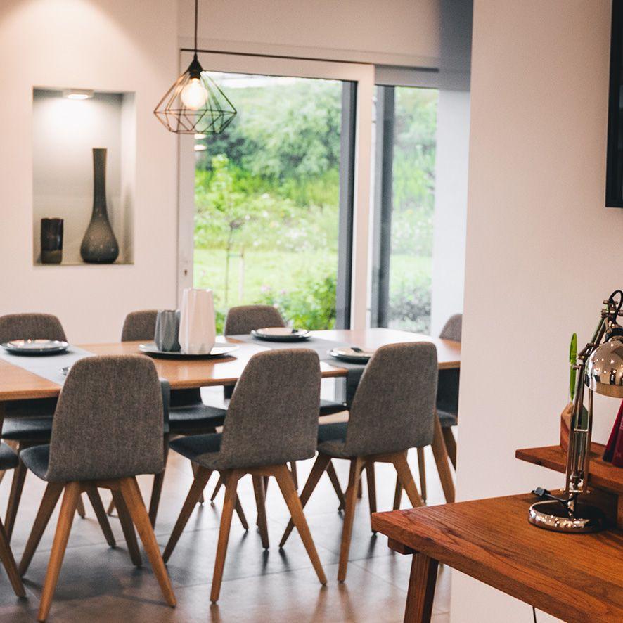 In so einem Essbereich isst man doch gerne #Esszimmer #Tisch #Lampe ...