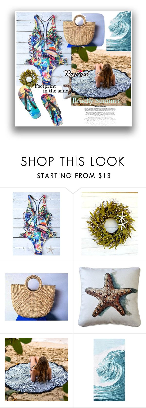 """""""Rosegal"""" by prabhatkumarsingh ❤ liked on Polyvore featuring Pillow Decor, PBteen and FOOTPRINTS"""
