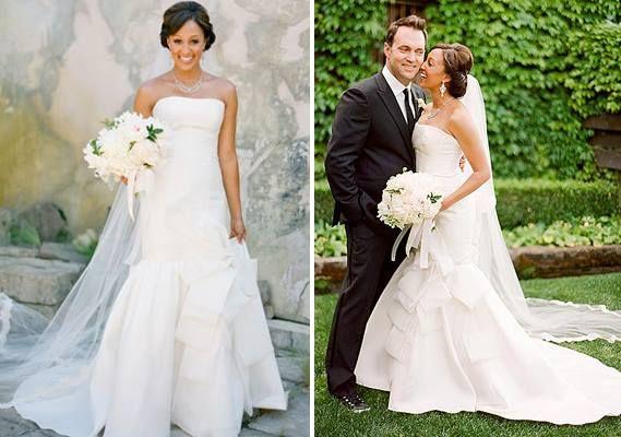 Tia Tamera Mowry Celebrity Wedding Dresses Celebrity Wedding
