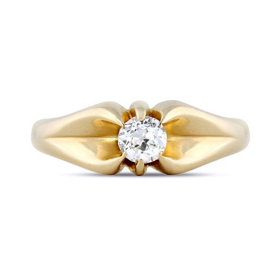 #Edwardian Old European #Diamond #Solitaire Ring In by @shopGerardLeon