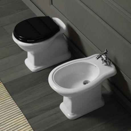 Simas Lante LA 04 Stand-Bidet, mit Hahnloch und Überlauf - weiß - badezimmer outlet