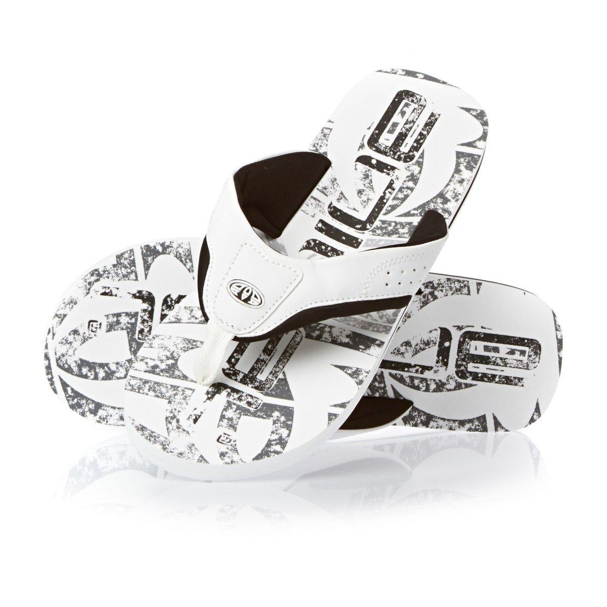 993deac457fa Men s Animal Flip Flops - Animal Jekyl Logo Flip Flops - White