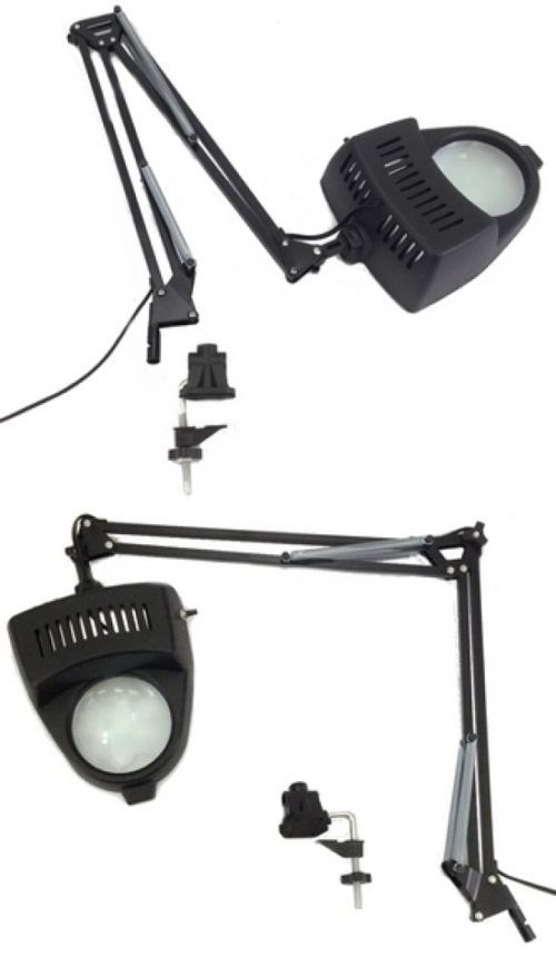 loupes and magnifiers 34084 clamp on swing arm lighted magnifying