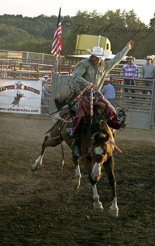 Saddle Bronc Horse Cowboy Riding Rodeo Event Baby Bib
