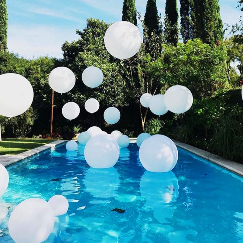Balloons Posey Floral Event Design Night Pool Party Pool