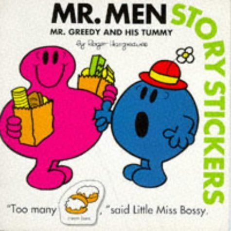 Mr greedy and his tummy mr men story stickers by roger hargreaves