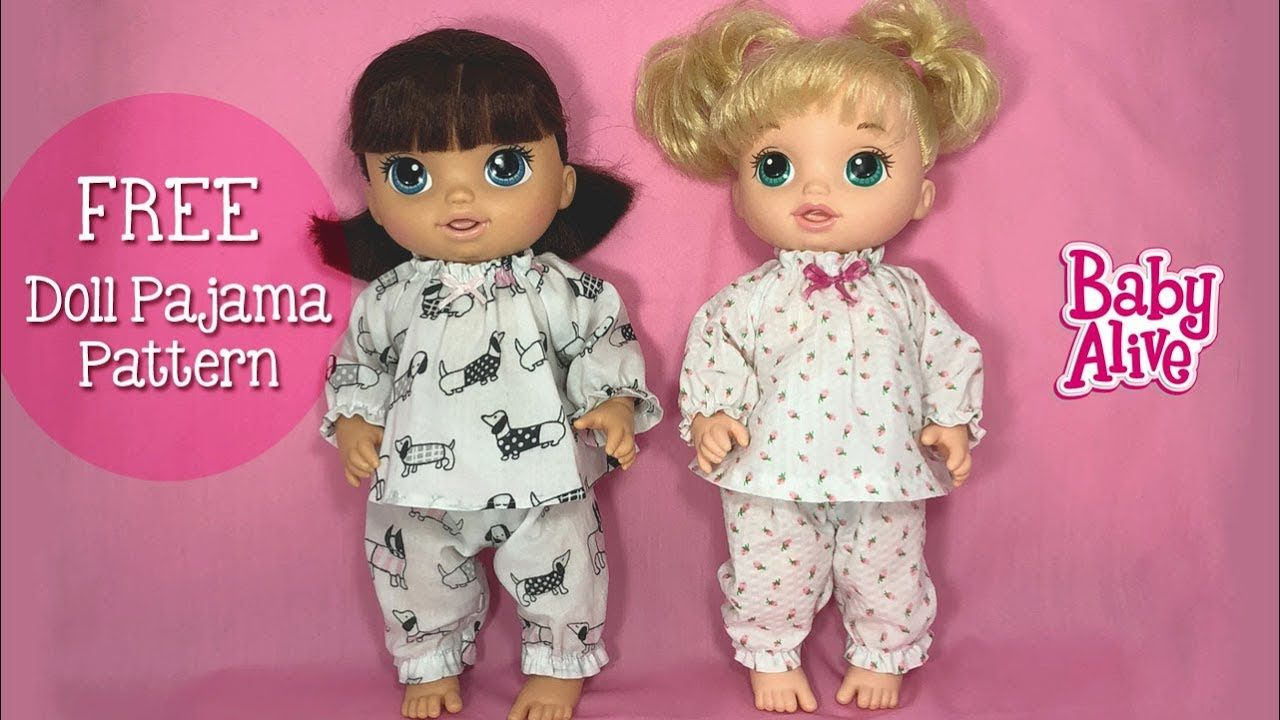 How To Make Doll Pajamas For Baby Alive Or 12 Quot Dolls Free