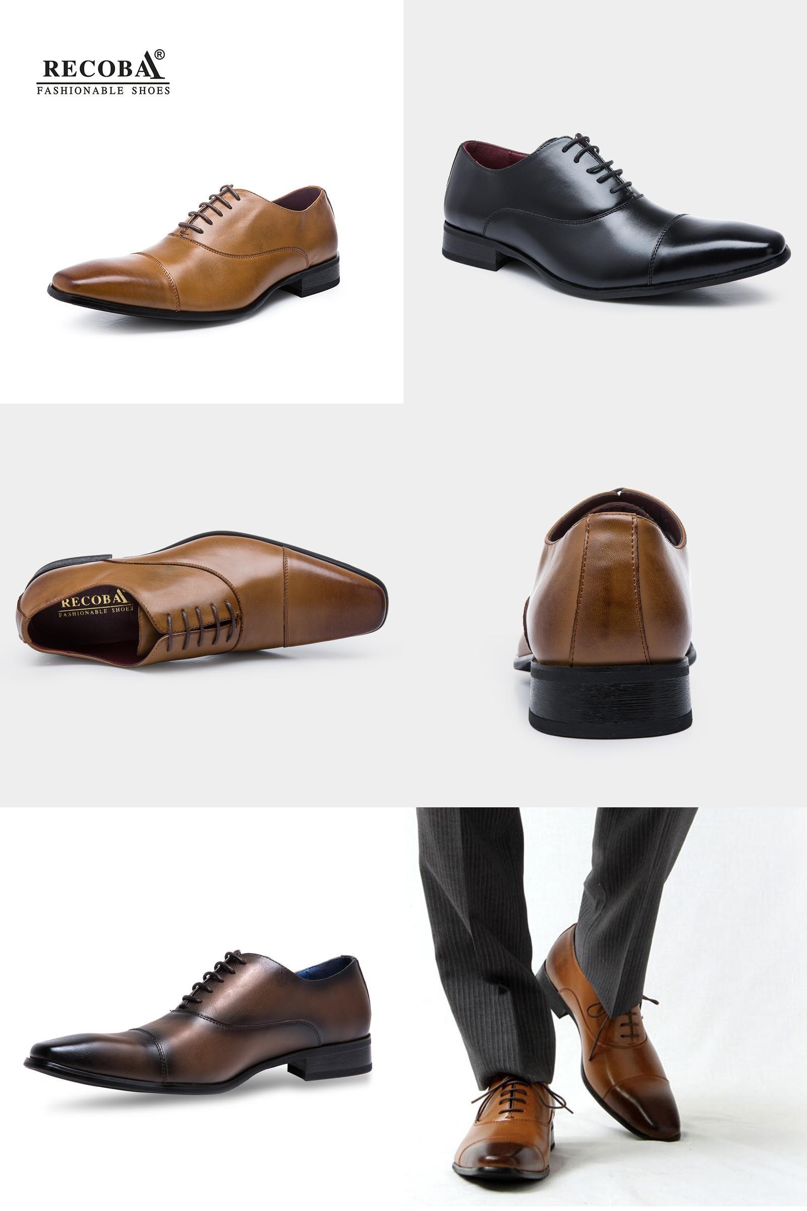 Visit to Buy  Men shoes luxury brand designer black brown genuine leather  formal wedding 01fc2163987