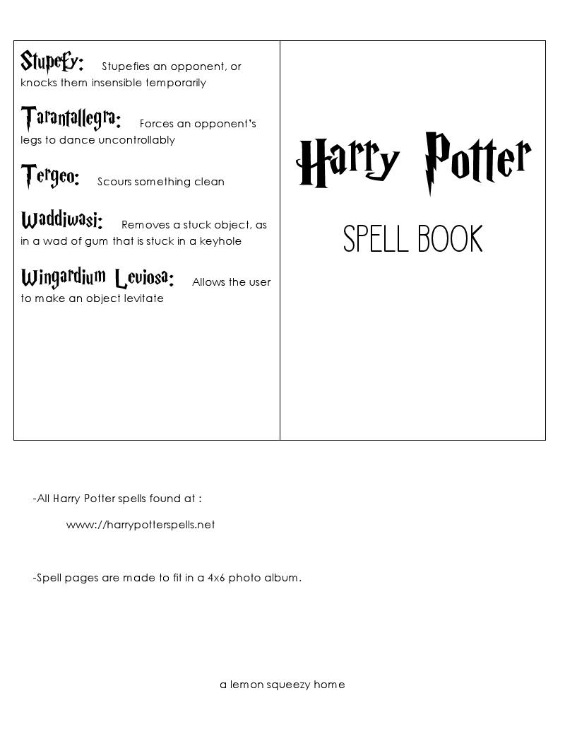 Harry Potter Spells pdf | Harry Potter in 2019 | Harry