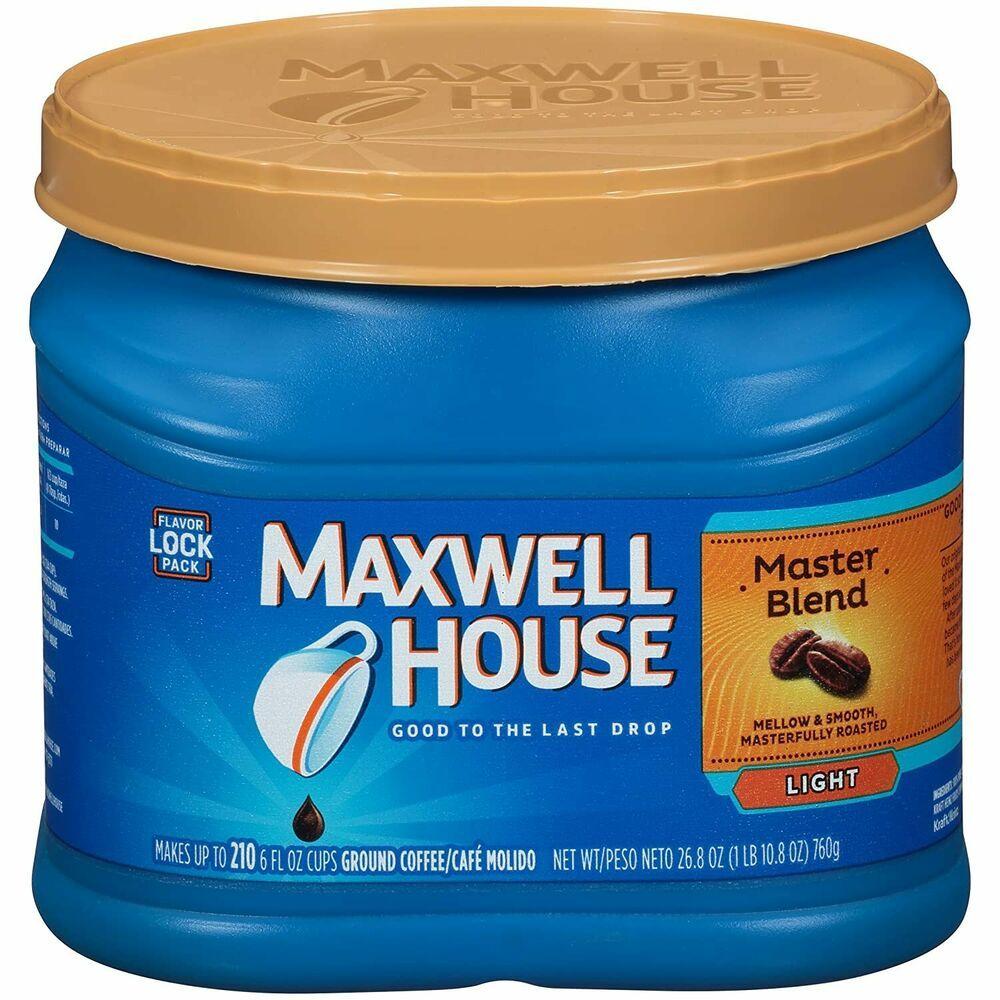 2 Maxwell House Master Blend Ground Coffee Light 26.8oz