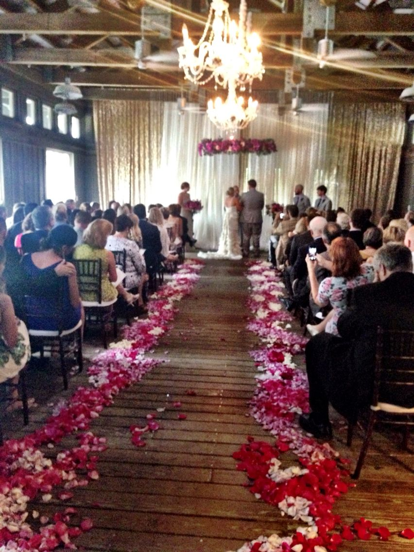Wedding Ceremony In The Boathouse On Lake At Watercolor Inn Resort